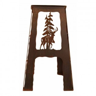 Deer Metal Bar Stool
