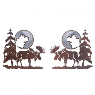 Moose and Pine Curtain Rod Brackets & Tie Backs