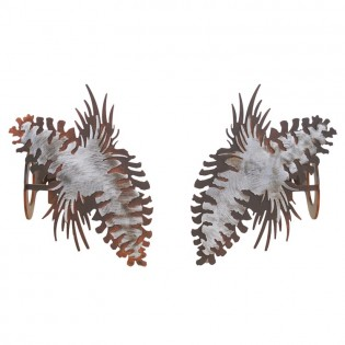Pine Cone Curtain Rod Brackets & Tie Backs