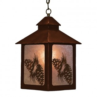 Square Pine Cone Lantern Pendant Light