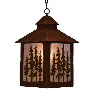 Pine Trees Lantern Pendant Light