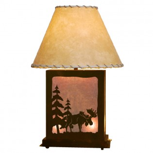 Scenic Moose Table Lamp