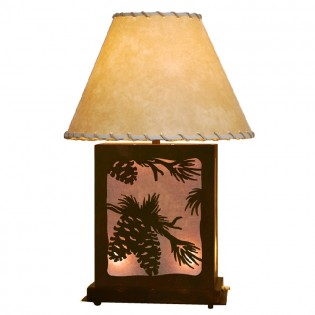 Scenic Pine Cone Table Lamp