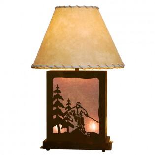 Scenic Skier Table Lamp