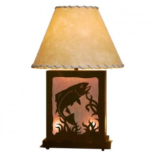 Scenic Trout Table Lamp