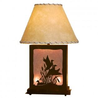 Scenic Ducks Table Lamp