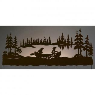 Canoeing Back Lie Wall Art