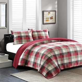 Red Maddox Coverlet Sets