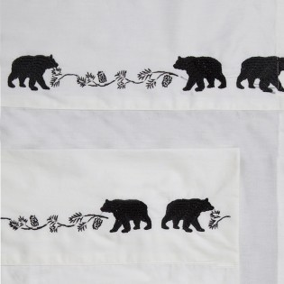 Embroidered Bear & Pine Cone Sheet Sets