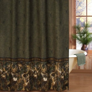 Browning Whitetail Shower Curtain