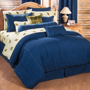 Denim Comforter Set