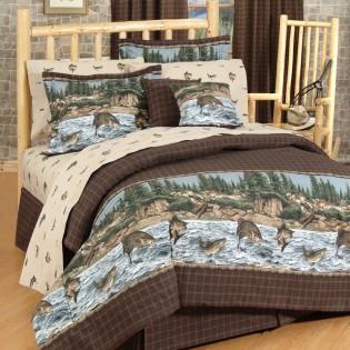 River Fishing Comforter Set