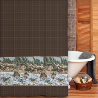 River Fishing Shower Curtain from The Cabin Shop!