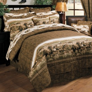 Wild Horses Comforter Set from The Cabin Shop!