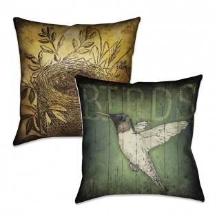 Reversible Lodge Bird Pillow