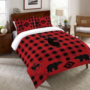 Buffalo Check Wildlife Duvet Cover