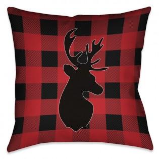 Buffalo Check Deer Pillow