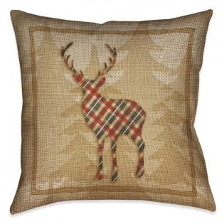 Country Cabin Deer Pillow