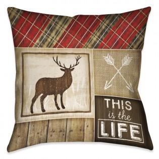 Country Cabin Elk Pillow