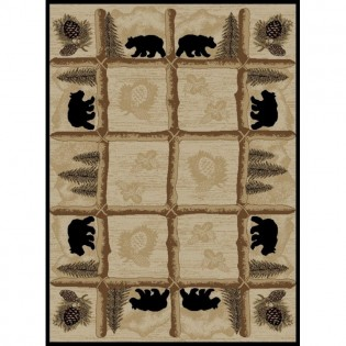 Toccoa Bears Rug from The Cabin Place!