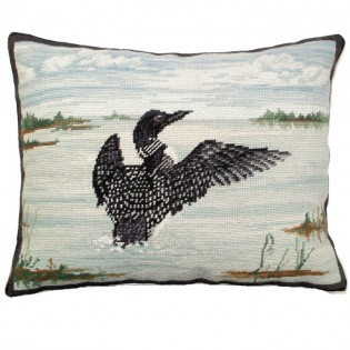 Loon in Flight Pillow