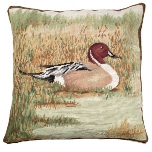 Pintail in Field Pillow