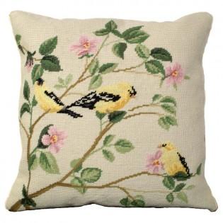 Gold Finch Pillow