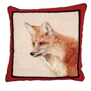 Fox Needlepoint Pillow