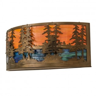 "30"" Tall Pines Wall Sconce"