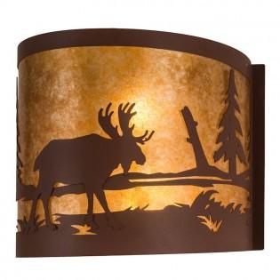 Moose at Lake Wall Sconce