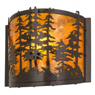 Pine Trees Wall Sconce