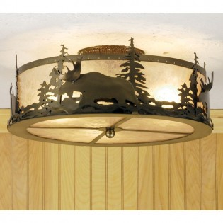 Click to buy Pine Forest Moose Ceiling Light