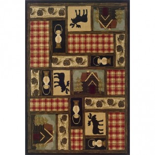 Cabin Moose Rug from The Cabin Place!