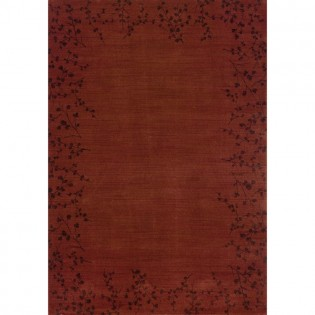 Claret Tiny Branches Area Rug - 5x8