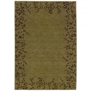 Moss Tiny Branches Area Rug - 5x8