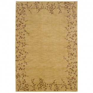 Wheat Tiny Branches Area Rug - 6x9