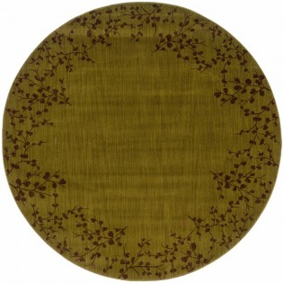 Moss Tiny Branches Round Rug