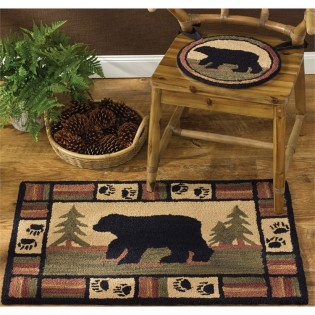 Adirondack Bear Hook Rug
