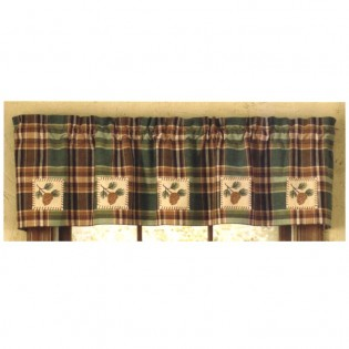 Pine Cone Patch Valance