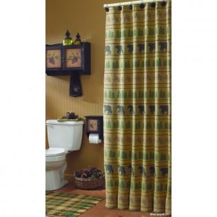 Bear Tracks Shower Curtain