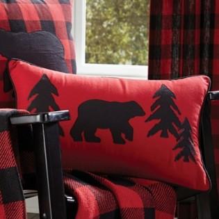 Buffalo Bear Accent Pillow
