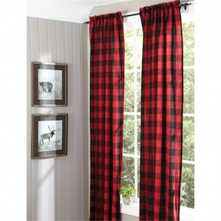 Buffalo Check Drapes