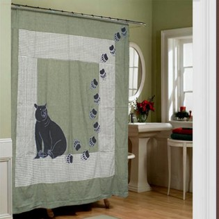 Designer shower curtains: Bear Shower Curtain