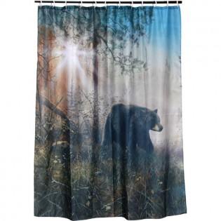 Shadow In the Mist Shower Bear Shower Curtain Set