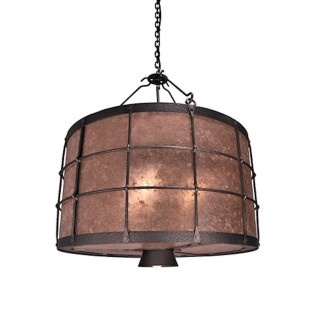 Ferron Forge Chandelier with Down Light