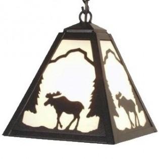 Timber Ridge Moose Pendant Light