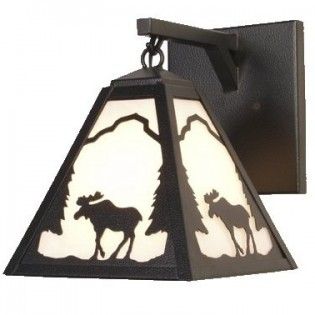 Timber Ridge Moose Hanging Sconce
