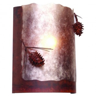 Ponderosa Pine Timber Ridge Sconce
