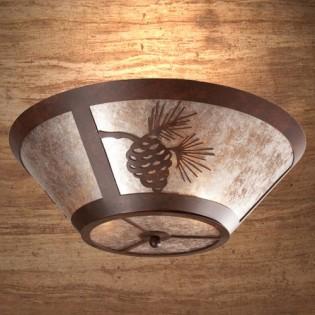 Pine Cone Round Ceiling Light