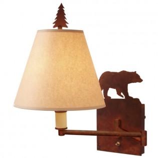 Bear Swing Arm Wall Lamp